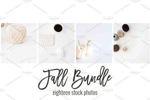 现代简约风办公场景样机 Fall Stock Photo Bundle插图3