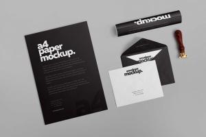 高级企业办公文具套装设计样机 6 Stationery Design Mockups插图7