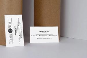 极简设计高端企业名片设计样机模板 Clean Business Card Mock Up插图3