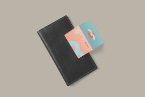 折叠式名片设计效果图样机PSD模板 Two Fold Business Card Mockups插图6