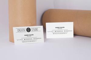 极简设计高端企业名片设计样机模板 Clean Business Card Mock Up插图2