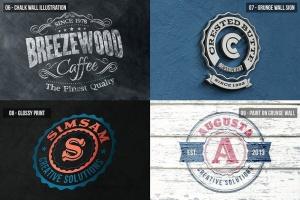 多应用场景复古品牌Logo设计样机模板 Photorealistic Logo Mock-Ups Vol.2插图4