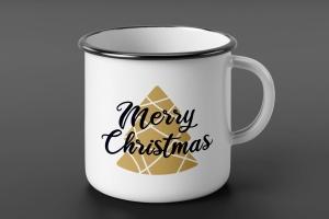 圣诞树矢量插画圣诞节主题T恤印花设计模板 Merry Christmas T-Shirt. Vector Print, Tree SVG插图(2)