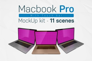 MacBook Pro笔记本样机模板套装 Macbook Pro kit插图1