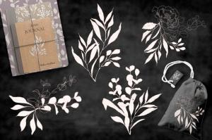 腮红色水彩手绘叶子图案剪贴画PNG素材 Blush Foliage Clip Art Bundle插图5