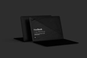 MacBook笔记本电脑屏幕预览图样机模板 Clay MacBook Mockup插图5