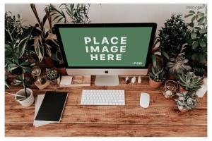 iMac&Macbook办公场景样机 iMac & Macbook on Scenes Mock-ups插图11