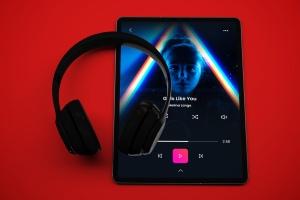 音乐APP界面设计效果图iPad Pro平板电脑样机模板 iPad Pro Music App插图3