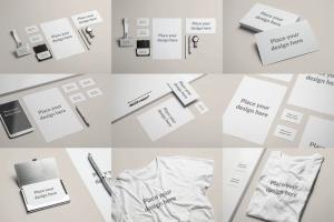 企业品牌办公文具等距样机模板 Branding / Identity Mock-up插图11