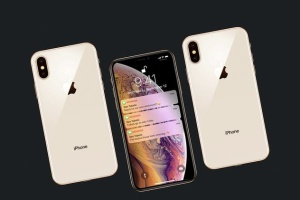 正反面视角iPhone Xs智能手机样机 New iPhone XS Mockup插图2
