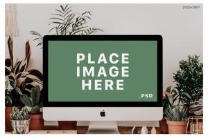 iMac&Macbook办公场景样机 iMac & Macbook on Scenes Mock-ups插图10