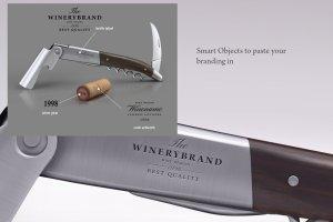 开瓶器品牌Logo展示样机 Wine knife and wine cork mock-up插图2
