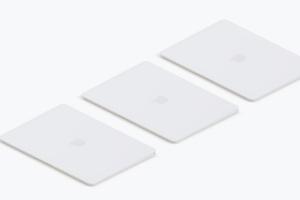 高端笔记本电脑MacBook左视图样机素材02 Clay MacBook Mockup, Isometric Left View 02插图3