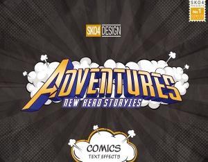 3D复古动漫卡通封面字体设计样式PSD图层样式 Comics Text Effects插图10