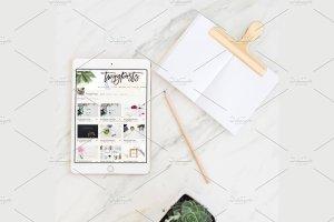 场景化平板电脑样机 Tablet Stock Photos + PSD Mockup插图1