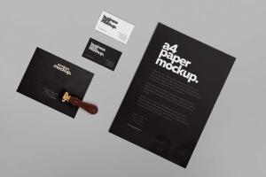 高级企业办公文具套装设计样机 6 Stationery Design Mockups插图6
