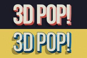 """10款""""吸睛大法""""3D立体文字图层样式 3D POP! Photoshop Effects插图8"""