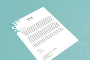 企业品牌办公用品样机模板 Branding Identity Mock Up – Teal Tirangles插图7