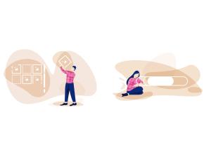 一流设计素材网下午茶:漂亮的互联网概念创意矢量插画素材下载[Sketch,Ai,XD]插图5