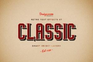 10款复古文本标题3D立体效果PS图层样式 Retro Text Effects V01插图6