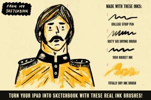 历史插画名家手绘风格Procreate绘画笔刷 Auld Inks for Procreate插图3