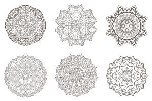 69种曼陀罗花矢量几何图形设计素材包 69 Vector Mandala – All Kinds of Complexity Set插图2