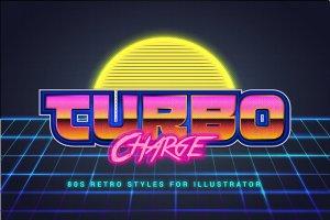 80年代复古文本图层样式 80s Retro Illustrator Styles插图6