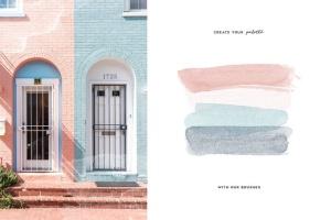 水彩画笔/图案PS笔刷合集 Aurora Watercolor Brushes Collection插图6