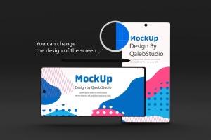 Note 10大屏手机屏幕预览样机模板 Dark Note 10 Mockup插图8