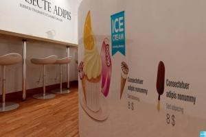 雪糕咖啡店铺品牌样机模板 Ice Cream – Coffee Branding Mockups插图8