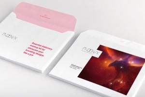 企业品牌设计企业信封外观设计预览样机模板02 Lord Envelope Mockup 02插图1