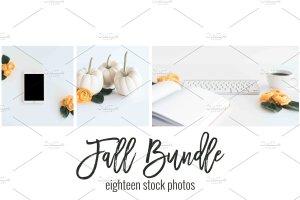 现代简约风办公场景样机 Fall Stock Photo Bundle插图2