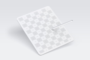 "iPad Pro平板电脑Web页面设计效果图样机 Clay iPad Pro 12,9"" Mockup插图1"