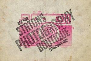 复古活版印刷效果图层样式 Vintage Letterpress Effects Vol.2插图6