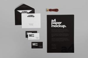 高级企业办公文具套装设计样机 6 Stationery Design Mockups插图3
