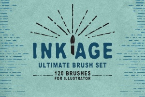 墨水复古插图创作必备AI笔刷 Ink Age Brushes for Adobe Illustrator插图(1)