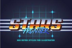80年代复古文本图层样式 80s Retro Illustrator Styles插图12