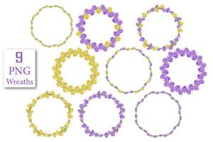 春天藏红花水彩插画设计素材 Crocus. Spring Flowers collection插图5