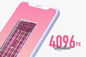 一流设计素材网下午茶:7款最受欢迎的iPhone X Clay模型 Mockups插图2
