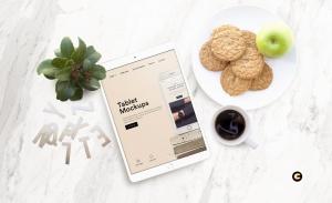 平板电脑/智能手机响应式页面设计效果图样机 Tablet Mock-Up插图3