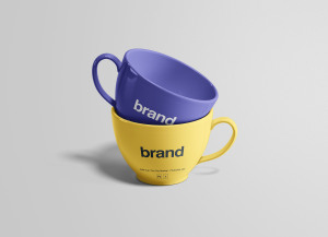 茶杯瓷杯外观设计效果图样机 Tea Cups Mockup插图3