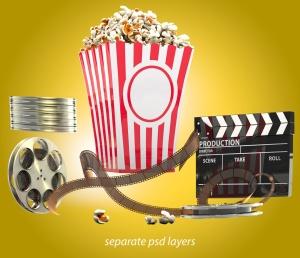 电影之夜爆米花电影院场景样机模板 Movie Night Mockup插图5