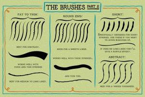 创意粗笔轮廓画笔笔刷 Outline Brushes插图4