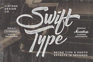 复古文本&照片效果图层样式 SwiftType. Retro Type & Photo PSD插图1