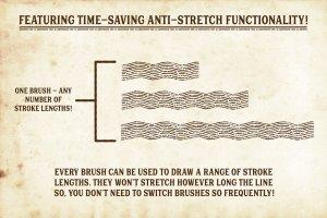 复古画笔线条艺术AI笔刷 Finest Vintage – Affinity Brushes插图7