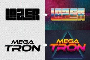 80s年代文本图层样式Vol.2 80s Text Effects Vol.2插图16