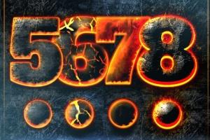 震撼熔岩火焰特效PS图层样式 Hot Lava & Fire Photoshop Layer Styles插图5