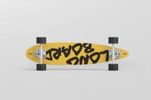 长滑板手绘图案设计样机模板 Skateboard Longboard Mockup插图12
