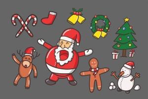 圣诞节主题元素矢量图形设计素材 Christmas Vector插图4