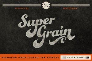 复刻超级纹理墨水效果PS图层样式[1.09GB] SuperGrain | Retro PSD Ink Effect插图1